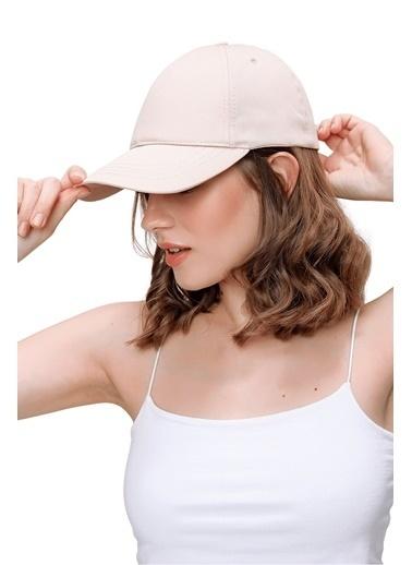 Butikburuç Kadın Kırmızı Spor Şapka Bej